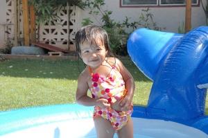 Tiana Posing in the Pool