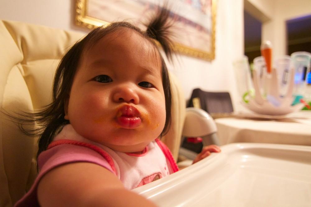 Mia and Her Chubby Cheeks