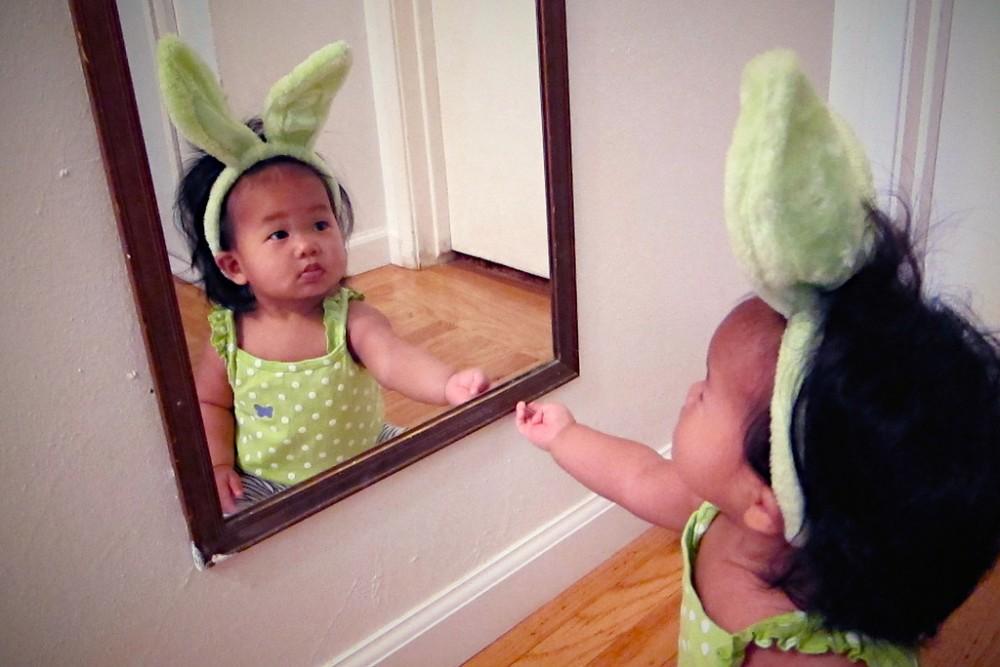 Mia and Her Bunny Ears