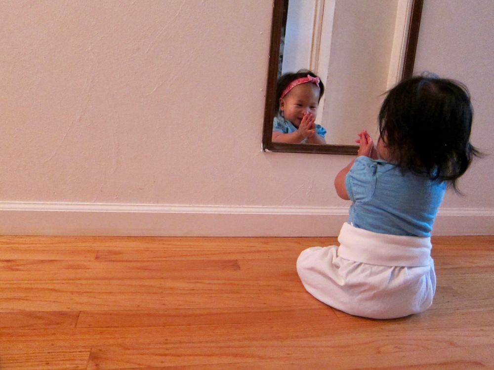 Mia and Her Reflection